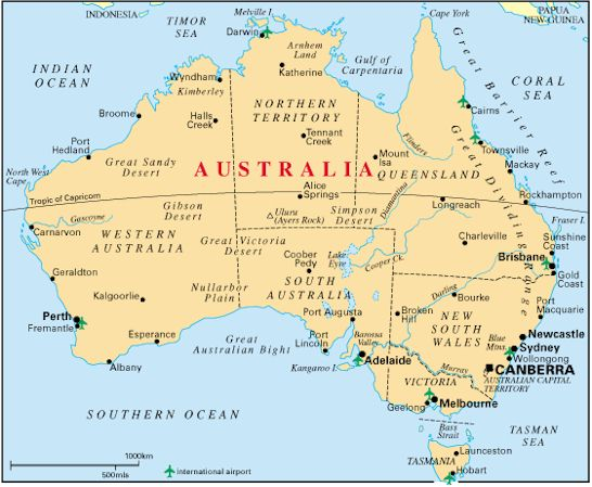 maps of australia with capital cities. Capital City
